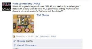 MUA on Facebook