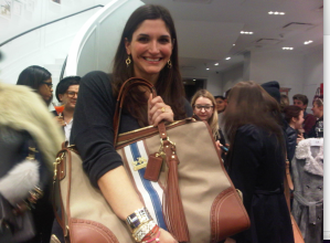 Emily from Fashion Foie Gras with her Coach bag