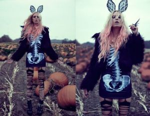 Scary fashion rabbit by Lina T